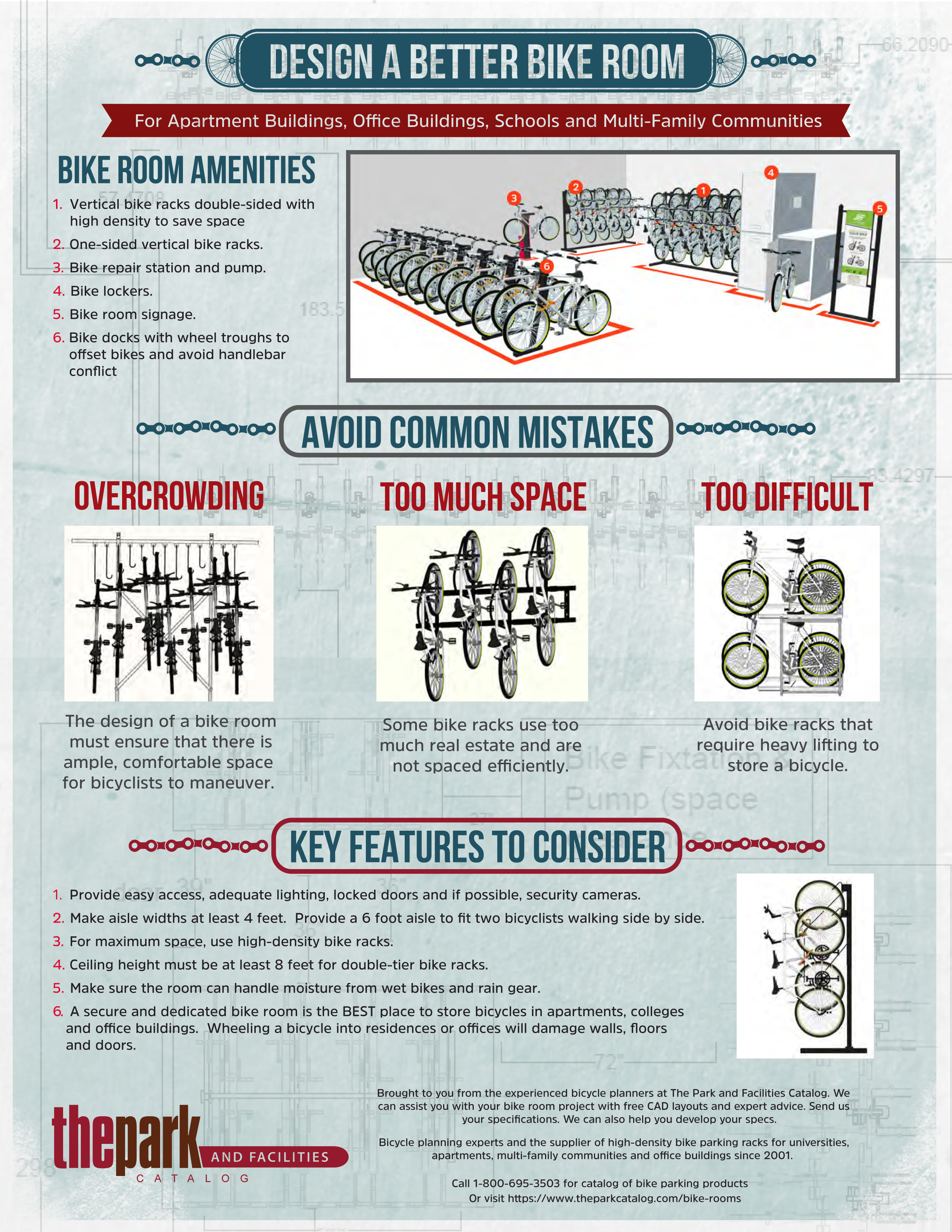 bike room infographic