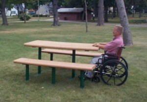 ada picnic tables