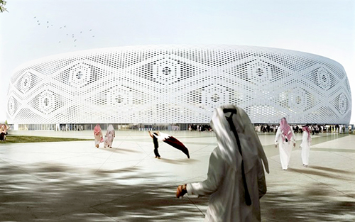 qatar stadiums and bleachers