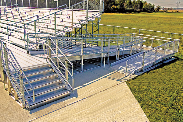 custom aluminum bleachers