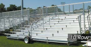 10 Row Transportable Bleacher