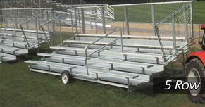 5 Row Transportable Bleacher