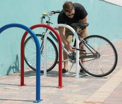U-shaped bicycle racks