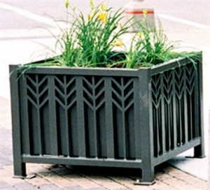 commercial metal planters