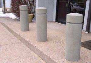 cylinder concrete bollards