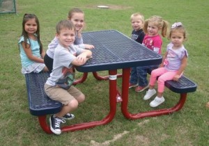 Kid's picnic tables