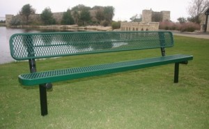 metal benches with thermoplastic coatings