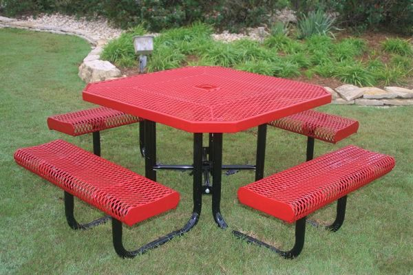 Coated metal picnic tables archives dash the park blog metal picnic tables watchthetrailerfo