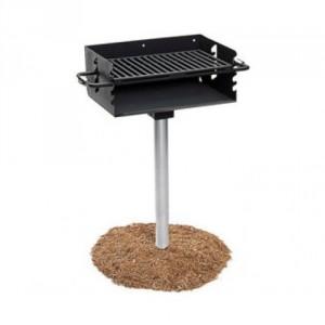 Pedestal park grill