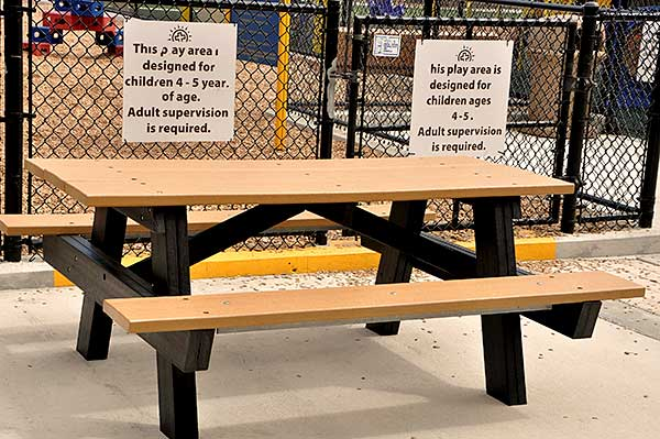 Plastic Picnic Tables Archives Dash The Park Blog - Plastic bench that turns into a picnic table