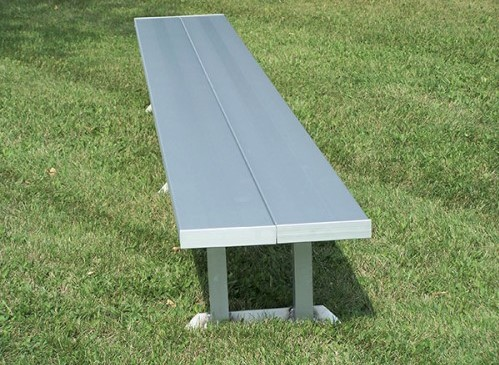Backless aluminum players bench.