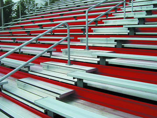 powder coated aluminum bleachers