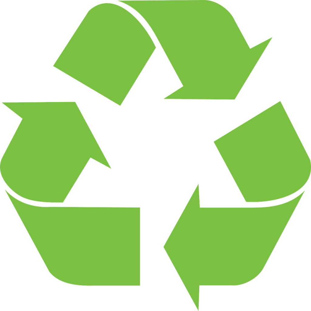 Recycled plastic benches and the recycling logo recycling symbol biocorpaavc