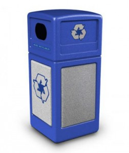 recycling trash receptacle