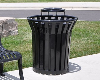 trash receptacle in park