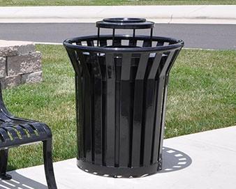 trash receptacle in park