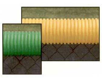 100'L or 250'L Corrugated Polypropylene Fence Cap Protection w Slit