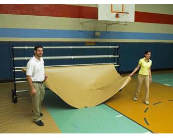 27-oz. Gym Floor Cover System - 10'W