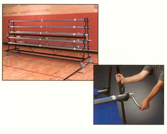 10' W Storage Rack - 6,8 and 10 Rollers - The Park Catalog