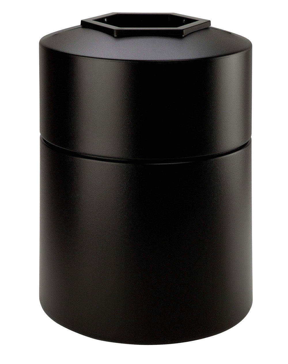 45-Gal Round Plastic Waste Container - 30H x 22D