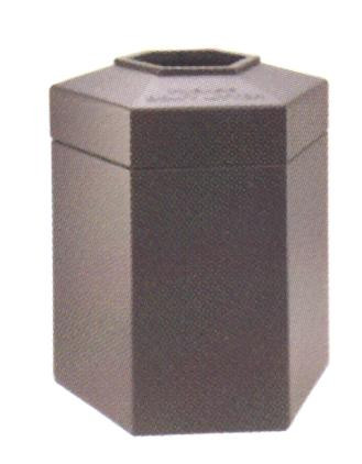 45-Gal. Hexagonal Plastic Waste Container - 31Hx25.5Wx23.25D