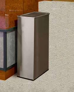 14-Gal. Precision Rectangular Swivel Door Stainless Steel Waste Container
