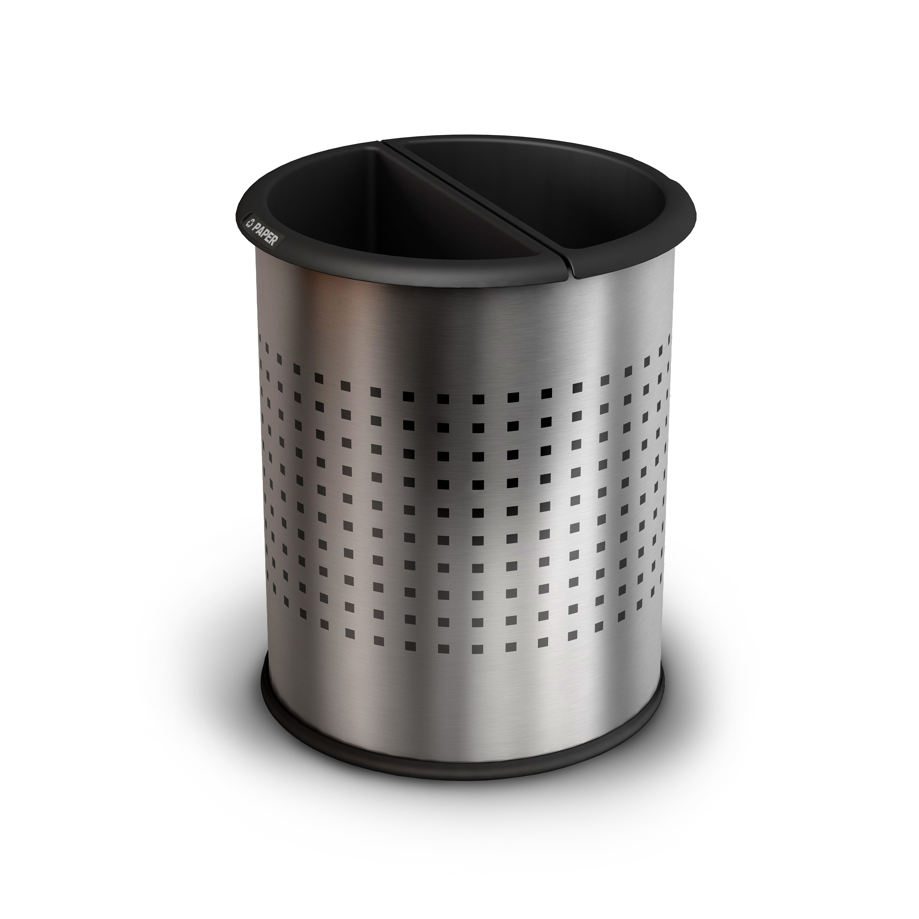 InnRoom Decorative Stainless Steel Waste Basket