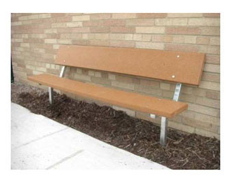6-Ft. Stationary Wood Park Bench with 14-Gauge Galvanized Metal Frame