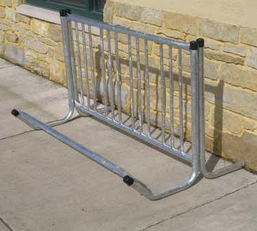 56 Single Entry Bicycle Rack with 4 Bike Capacity.