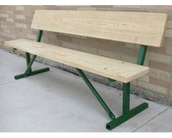 4-Ft. Portable Wood Park Bench with 14-Gauge Painted Metal Frame