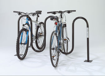 7-Bike 1-5/8 Colored Wave Bike Rack