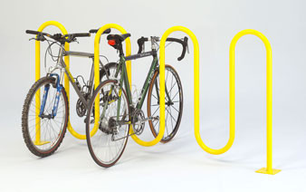 9-Bike 1-5/8 Wave Bike Rack