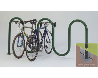 7-Bike 2-3/8 Wave Bike Rack