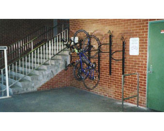 Wall-Mounted Bike Track with Loop Lock