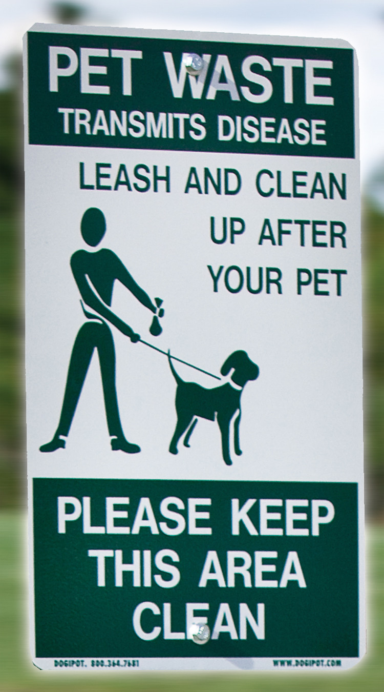 DOGIPOT Aluminum On-Leash Pet Sign (SIGN ONLY)