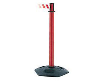 Heavy Duty Stanchion with Recycled Plastic Base, PVC Post & 7.5' Belt