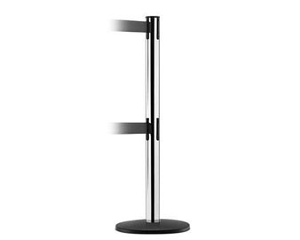 ADA Compliant Dual Line Stanchion with Basic Base