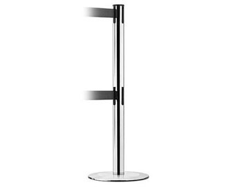ADA Compliant Dual Line Stanchion with Universal Base