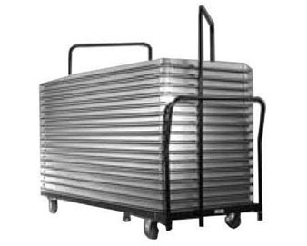 Double-Capacity Cart for 30W x 96L Rectangular Folding Table
