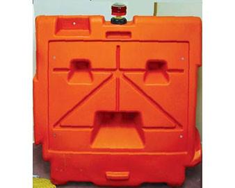 45L X 24W X 42H Longitudinal Channelizing Barricade