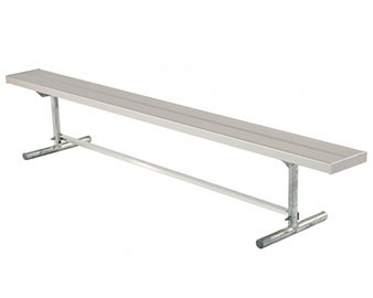 Galvanized Steel Frame Players Bench with Aluminum Planks - Portable