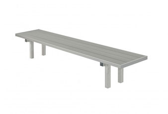 All-Aluminum Player's Bench - In-Ground Mount