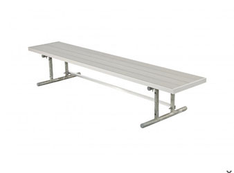 Double Aluminium Player's Bench with Galvanized Frame - Portable