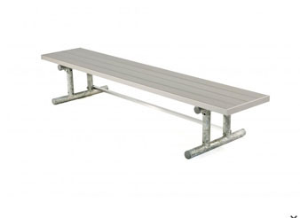 Aluminum Player's Bench with Galvanized Frame - Portable