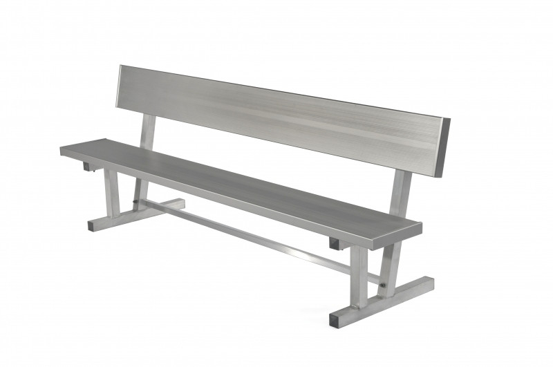 All-Aluminum Player's Bench with Back - Portable