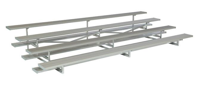 4 Row Aluminum Bleachers - Sideline Series
