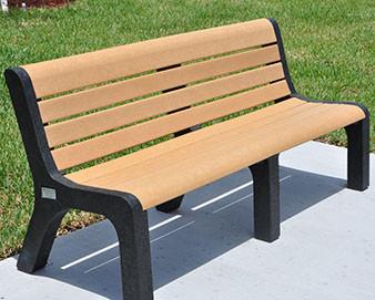 4-Ft. Recycled Plastic Malibu Bench