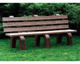 6-Ft. Recycled Plastic Traditional Bench