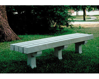 6-Ft. Recycled Plastic Flat Bench