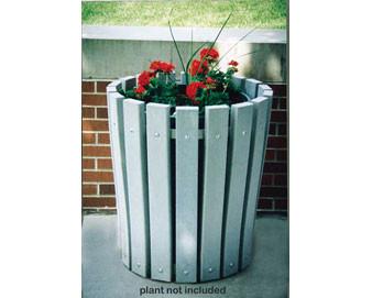 Recycled Plastic Round Planter